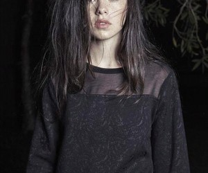 black, grunge, and model image