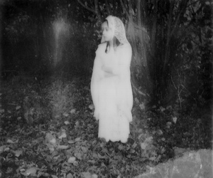 black and white, experimental, and ghost image