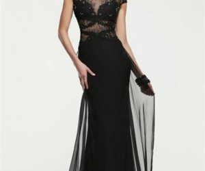 lace, long, and formal prom dress image