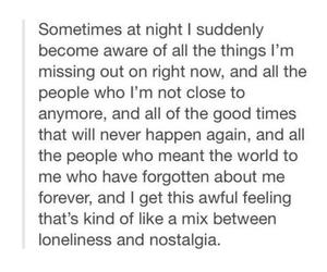 loneliness, night, and sad image