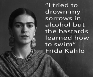 alcohol, Frida, and frida kahlo image
