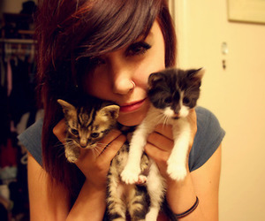 cats, girl, and piercing image