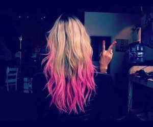 dyed hair, pink, and tumblr image