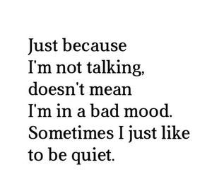 quiet, quote, and mood image