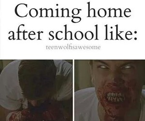 hungry, school, and teen wolf image