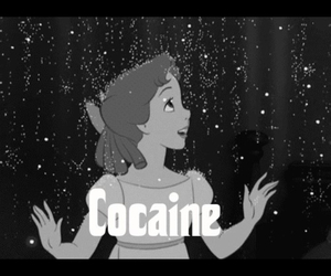 cocaine, disney, and peter pan image