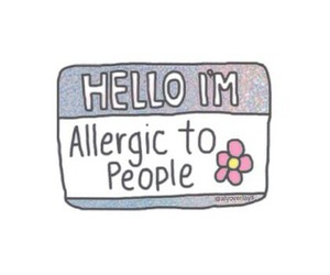 people, allergic, and hello image