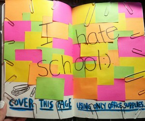 post-it and school image