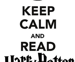 harry potter, keep calm, and read image
