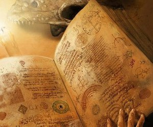 book, magic, and horror image