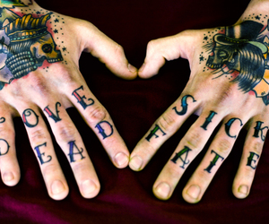 tattoo, dead, and love image