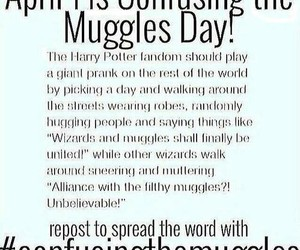harry potter, muggles, and april 1st image