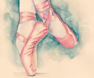 ballet, drawing, and shoes image