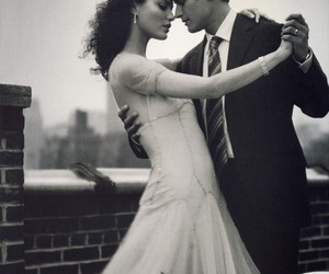 couple, dance, and Shalom Harlow image
