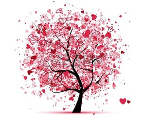 heart, tree, and illustration image