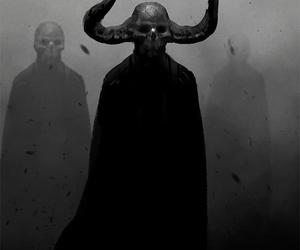 black, Devil, and satan image