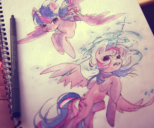 MLP, my little pony, and watercolour image