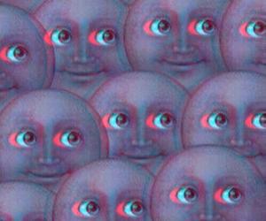 moon, emoji, and wallpaper image