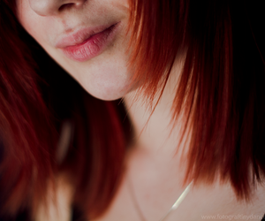 hair, lips, and red hair image