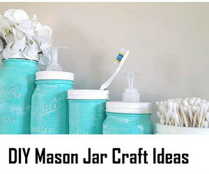 crafts, jar, and recycle image