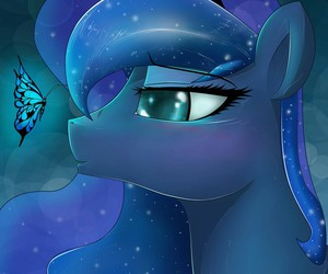 blue, butterfly, and MLP image