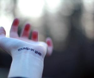 hand, love, and tattoo image