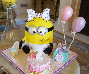 cake, lovely, and minion image