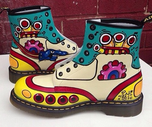 boots, yellow submarine, and cool image