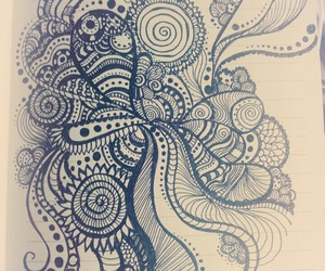 art, black, and patterns image