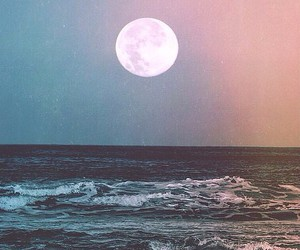 moon, grunge, and hipster image