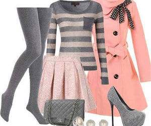 pink, heels, and winter image