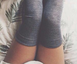 socks, coffee, and legs image