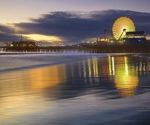 california, ocean, and beach image