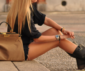 bag, fashion, and sidewalk image