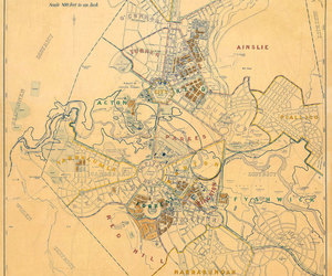 old maps and canberra map image