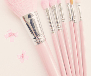 pink, Brushes, and makeup image