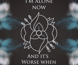 band, dark, and Lyrics image