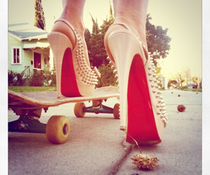 shoes, heels, and skate image