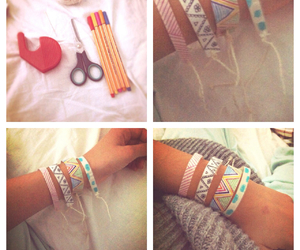 bracelet, colourful, and diy image