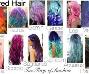 cancer, gemini, and hair image
