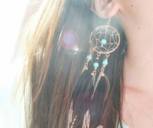 earrings, dreamcatcher, and dream catcher image
