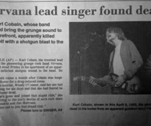 band, cobain, and death image