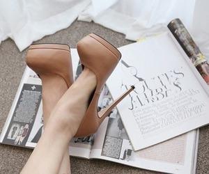 high heels, luxury, and brown image