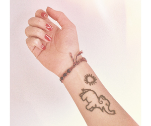 henna, tattoo, and simple henna image