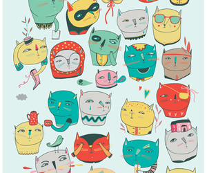 cats and illustration image