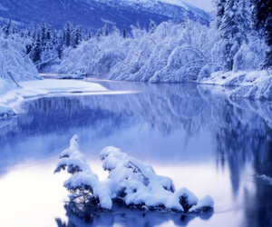 snow, water, and winter image
