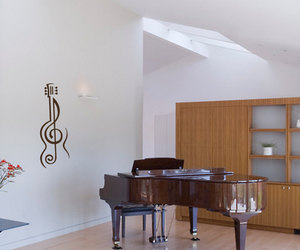 guitar, music, and home decor image