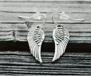 earrings, wing, and wings. image