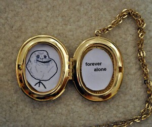 forever alone, alone, and funny image