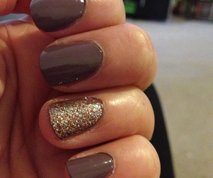 nails, brown, and gold image